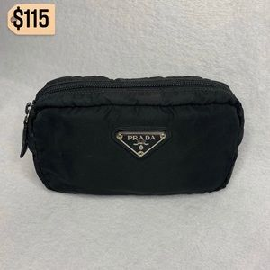 ✨✨✨✨SOLD✨✨✨✨ Prada Black Nylon Pouch Clutch Bag